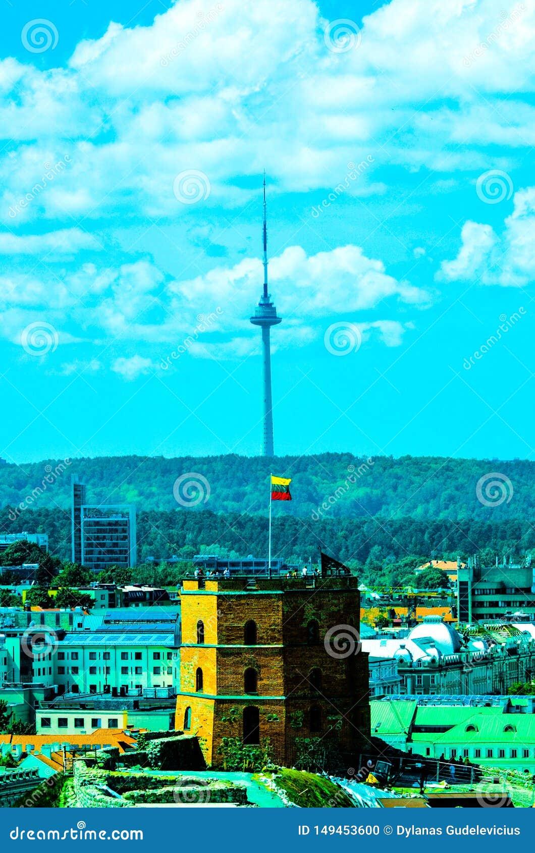Fernsehturm und Gediminas-Schloss