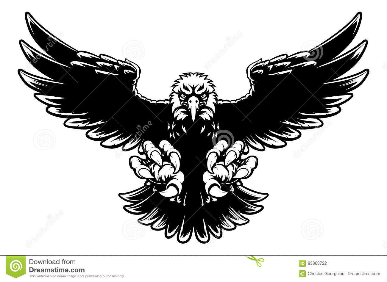 Eagle Flying Attack Graphic Vector Illustration ...