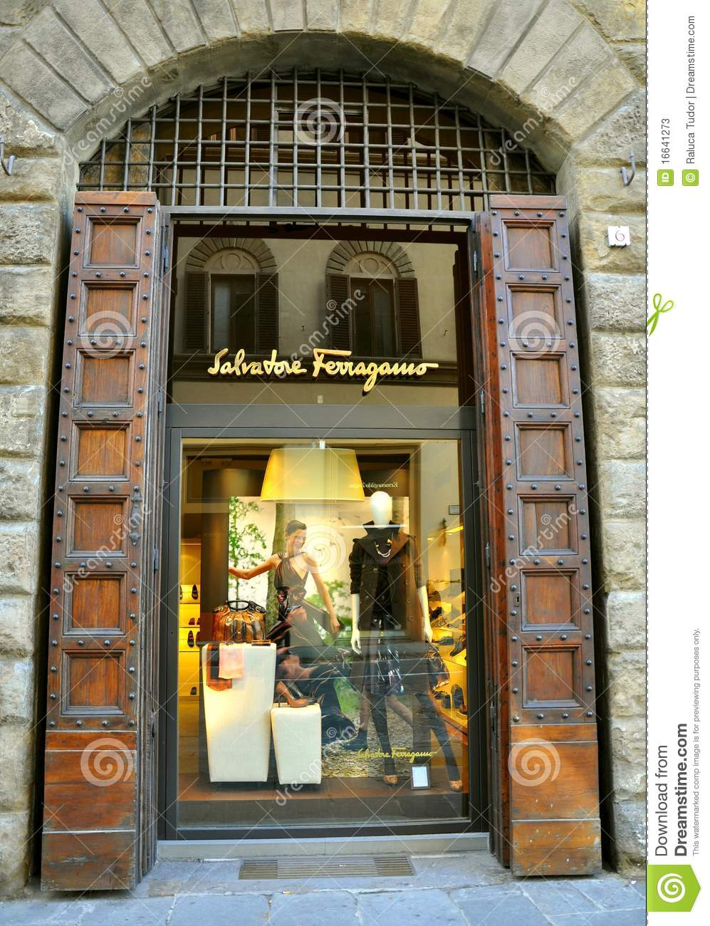 Ferragamo Luxury Fashion Shop In Italy Editorial Stock ...
