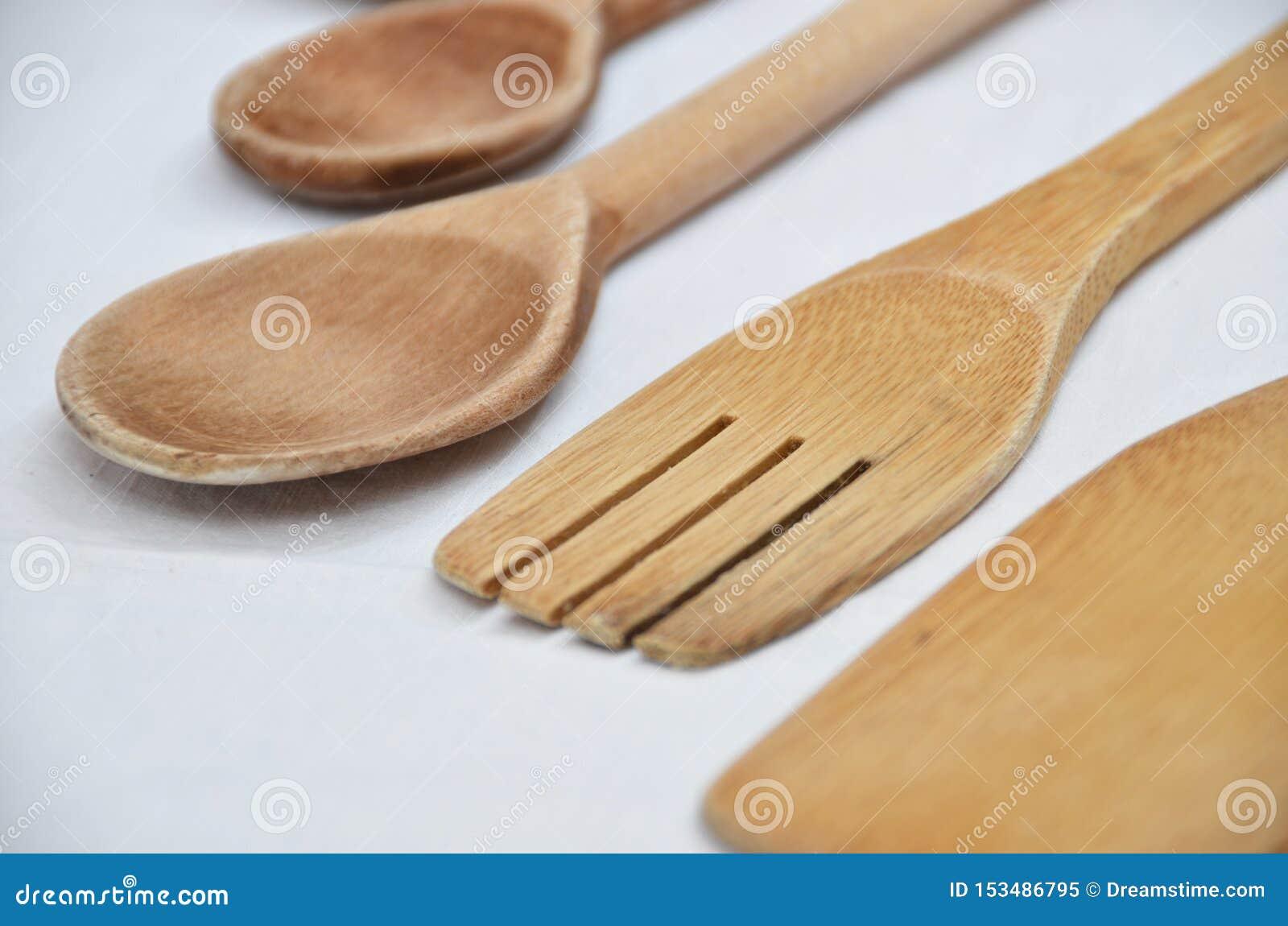 Ferramentas de madeira da cozinha