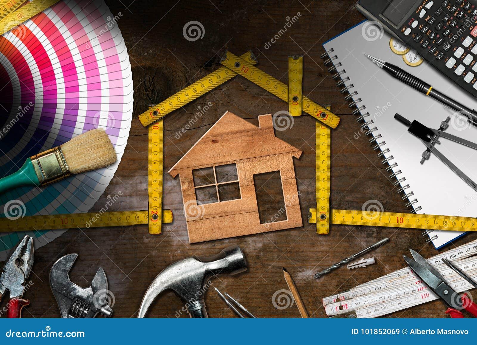 Ferramentas do trabalho e House modelo - melhoria home