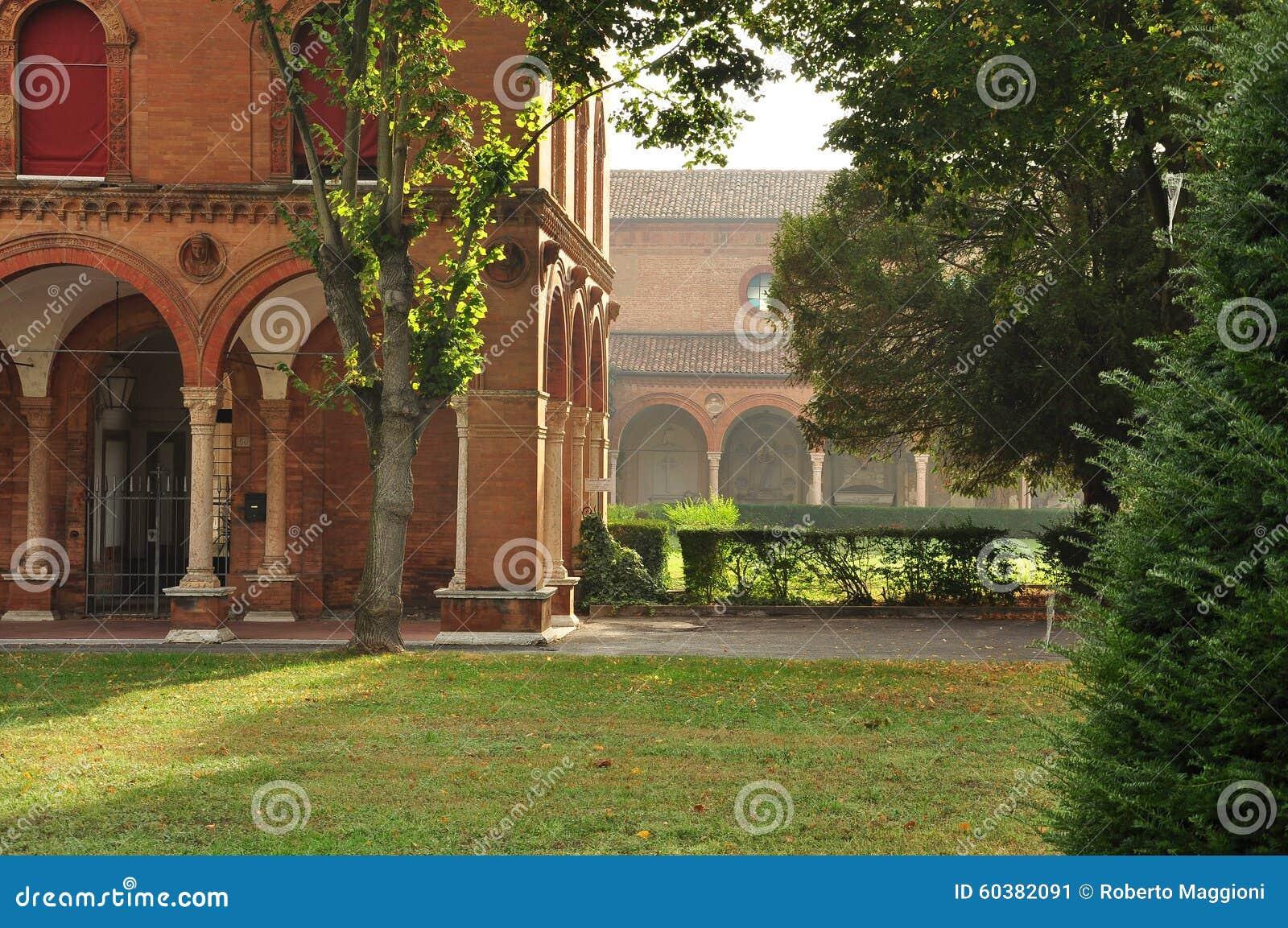 Ferrara italy Stadskyrkogårdträdgårdarna