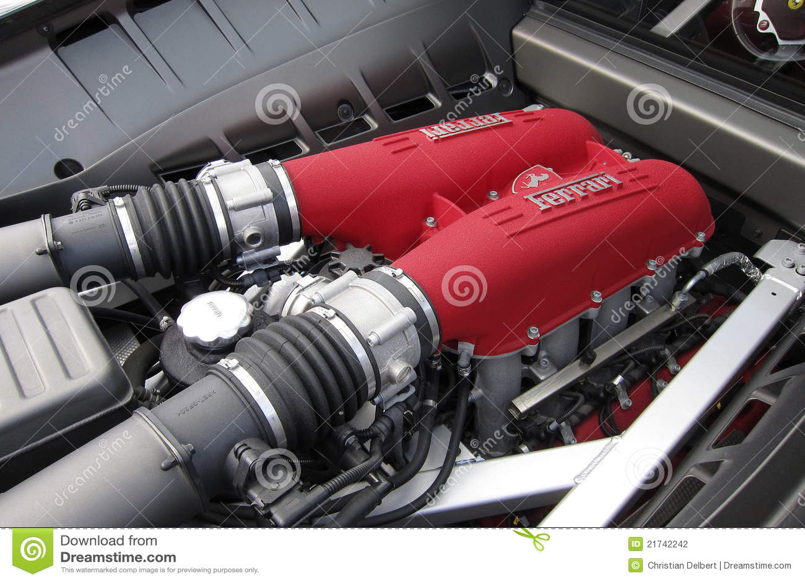 Ferrari 458 Engine Editorial Photography Image Of Turbo