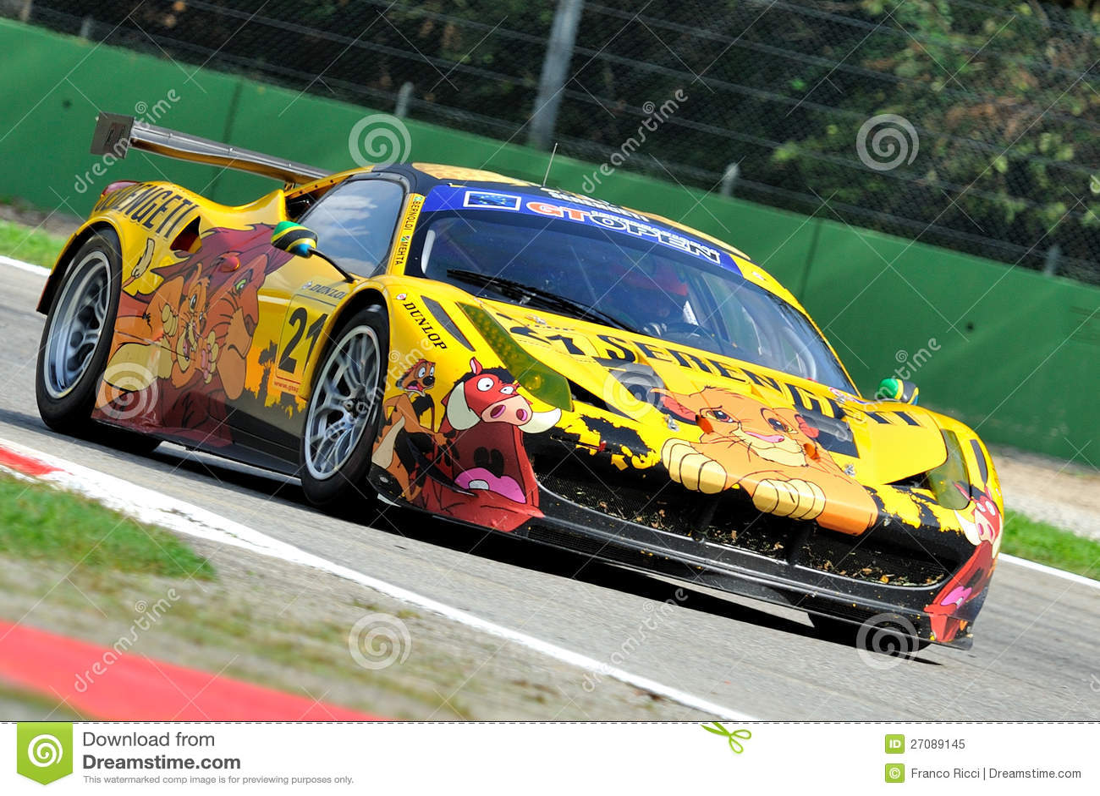 Circuit Monza Italia : Ferrari gt italia in monza race track editorial image image