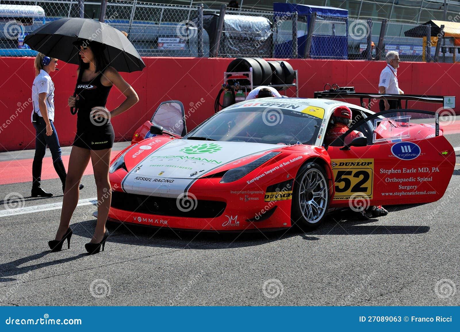 Circuit Monza Italia : Ferrari italia gt in monza race track editorial stock photo