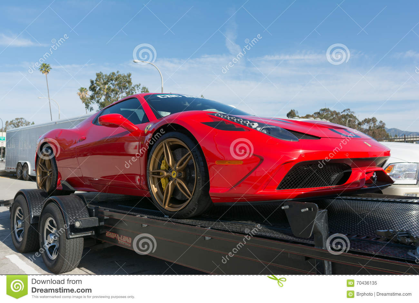 Ferrari 458 Car On Display Editorial Image Image Of Motor 70436135
