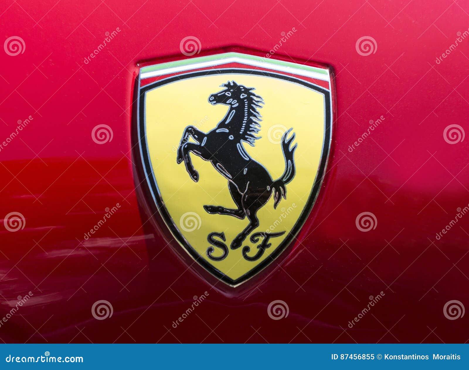 Ferrari Car Logo Editorial Image Image Of Backgound 87456855