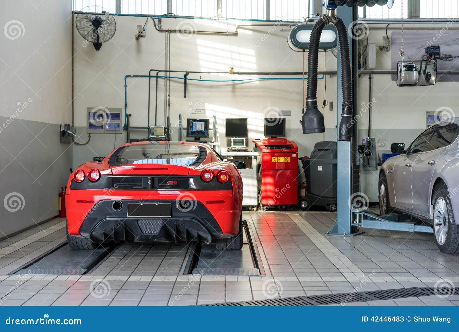 Design car repair workshop - Ferrari Car Repair Service