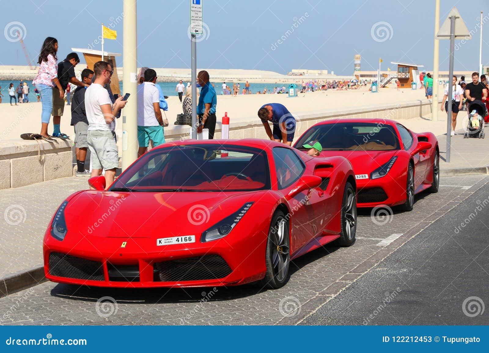 Ferrari Cars In Dubai Editorial Stock Photo Image Of Ferrari
