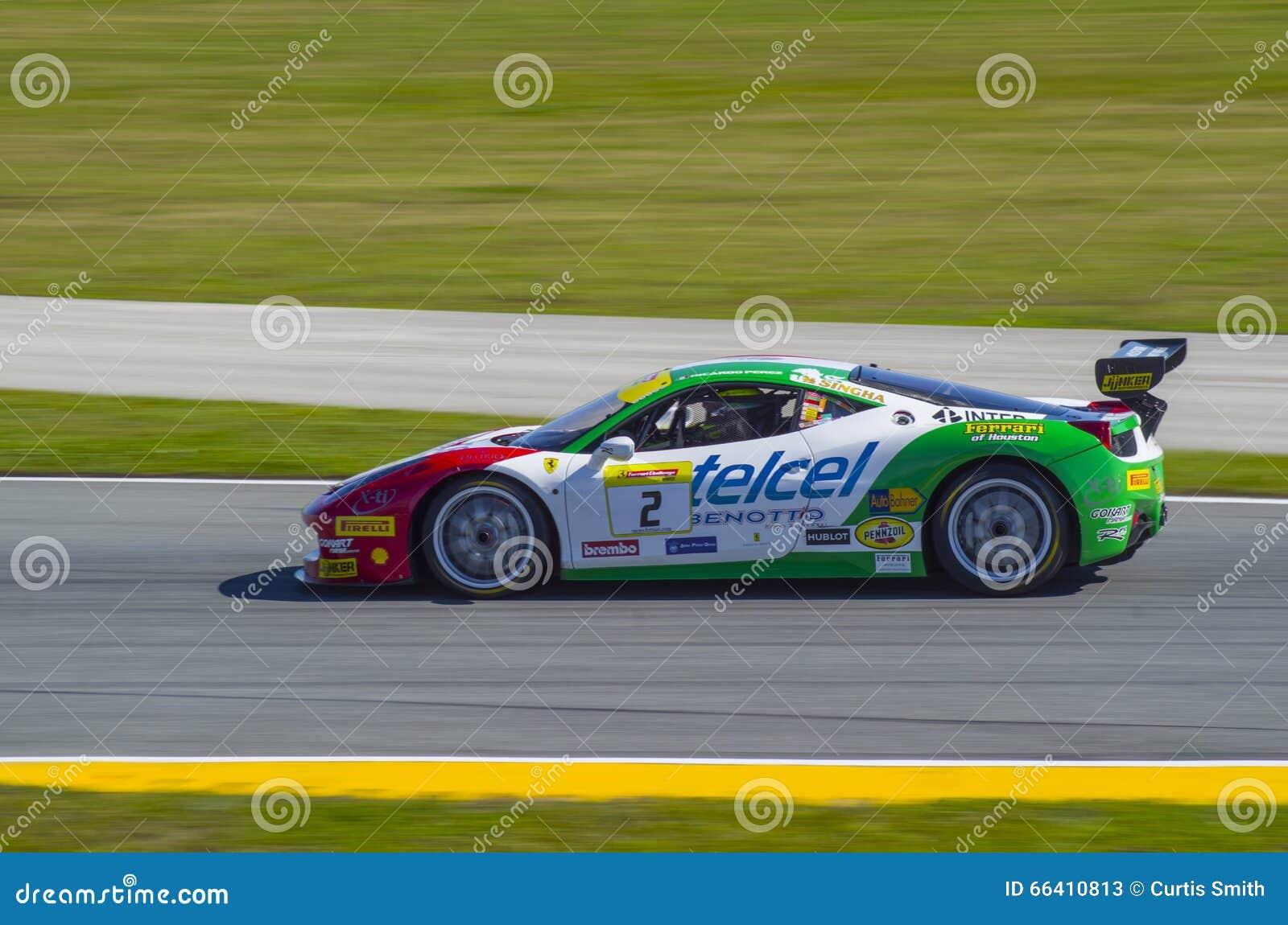 Ferrari Challenge 2016 Daytona winning car of Ricardo Perez de Lara