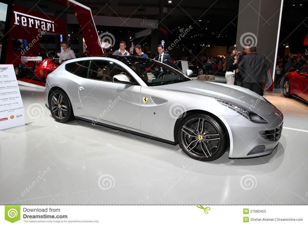 ferrari ff photo stock ditorial image du neuf sports 27080453. Black Bedroom Furniture Sets. Home Design Ideas