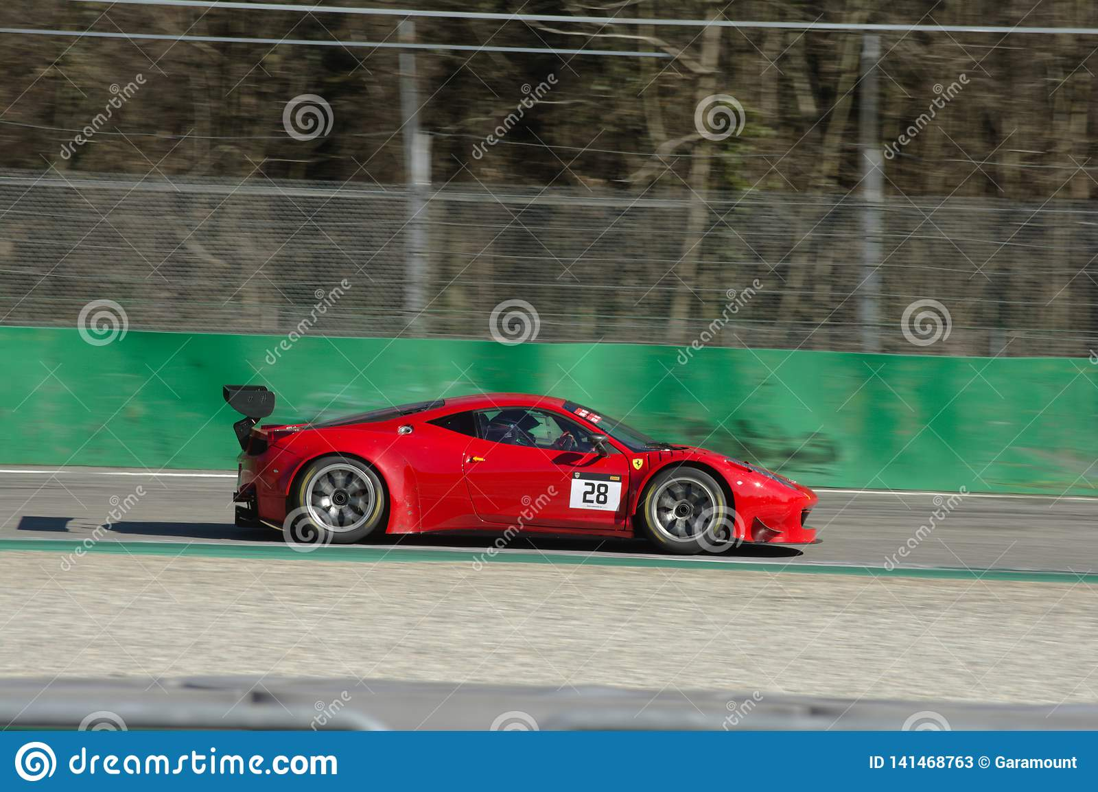 Ferrari 458 Gt3 On Track At The Monza Circuit Editorial Stock Photo Image Of Monza Control 141468763