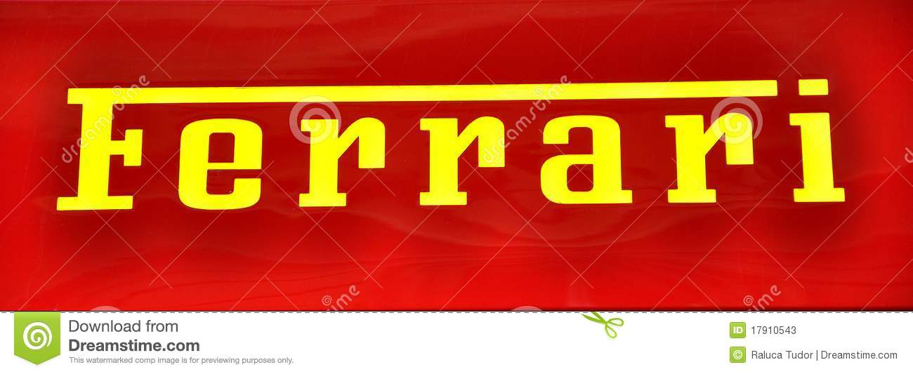 Ferrari Logo Editorial Stock Photo Image 17910543