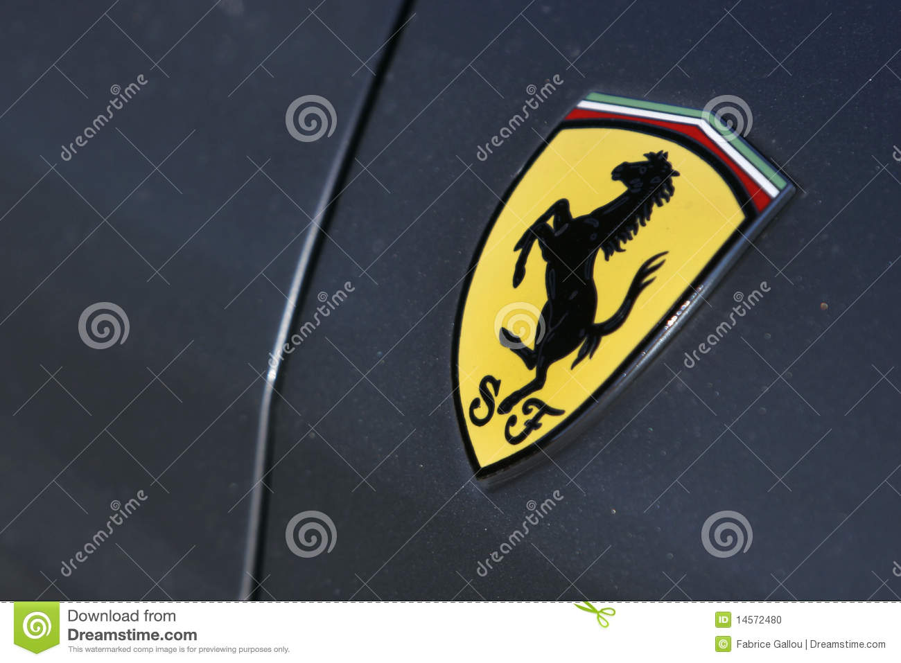 Ferrari logo stock photos download 1217 images ferrari logo on gray sport car cavallino rampante badge stock photo buycottarizona Choice Image