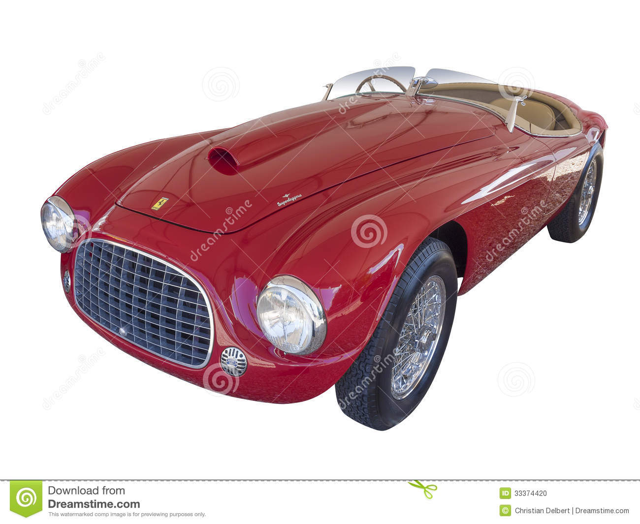 Ferrari 166 MM Barchetta, isolated