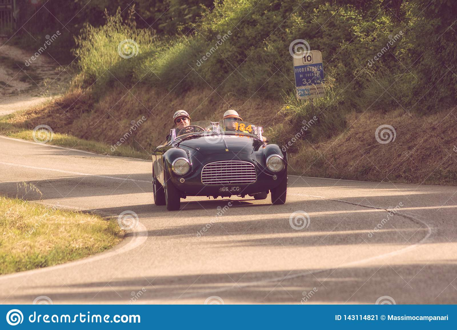 Ferrari 166 Mm Spider Touring 1950 On An Old Racing Car In Rally Mille Miglia 2018 The Famous Italian Historical Race 1927 1957 Editorial Photo Image Of Driving Giulietta 143114821