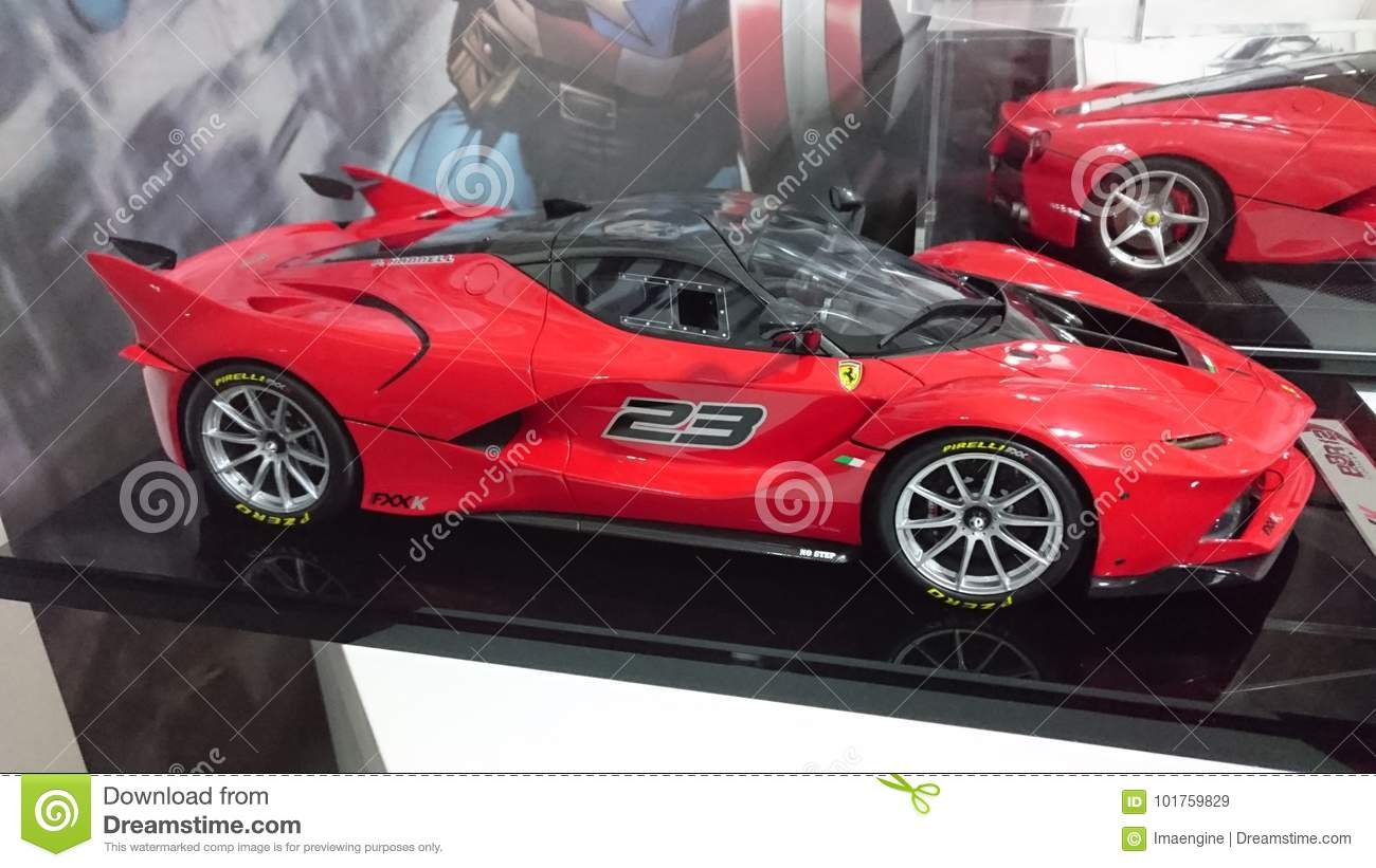 Ferrari Model Cars On Display Race And Road Cars Of The Italian Car Producer History Editorial Stock Image Image Of Scale Race 101759829
