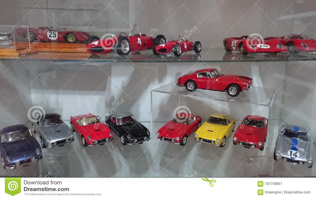 Ferrari Model Cars On Display - Race And Road Cars Of The