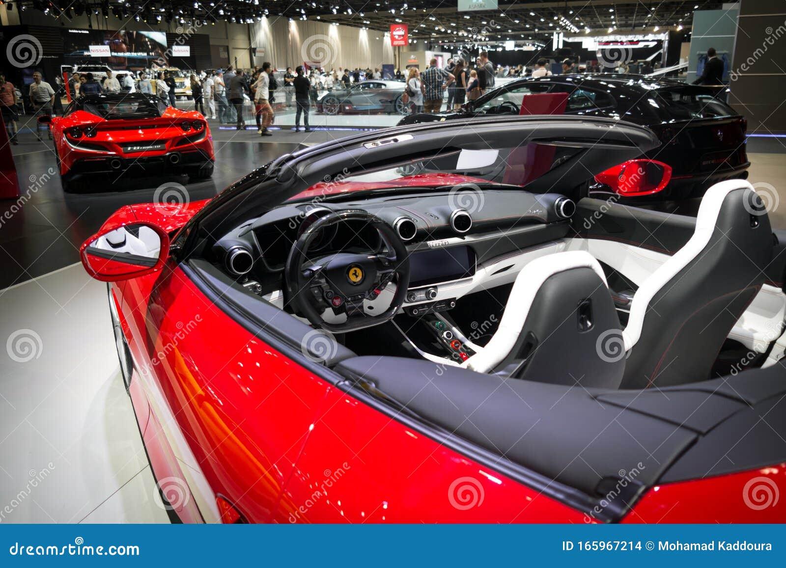 Ferrari Portofino 2020 Interior In A Beautiful Color Convertible Luxurious Sport Car Editorial Stock Image Image Of Automobile Interior 165967214
