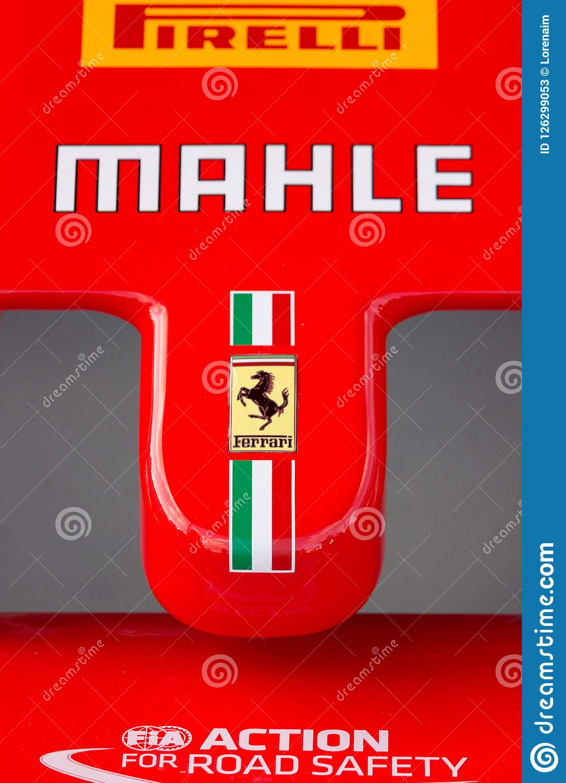 Ferrari Nose Cone From An F1 Car Editorial Stock Photo Image Of Technology Sports 126299053
