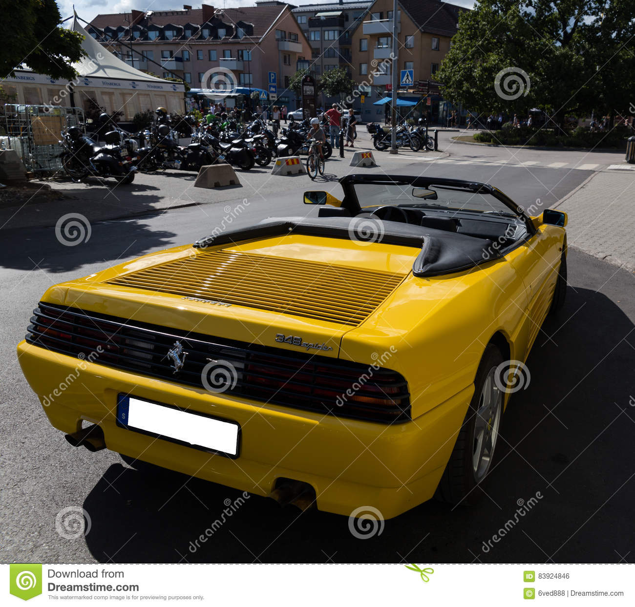 Ferrari 348 Spider Island Of Vaxholm Stockholm Sweden Editorial Photo Image Of Race Fast 83924846