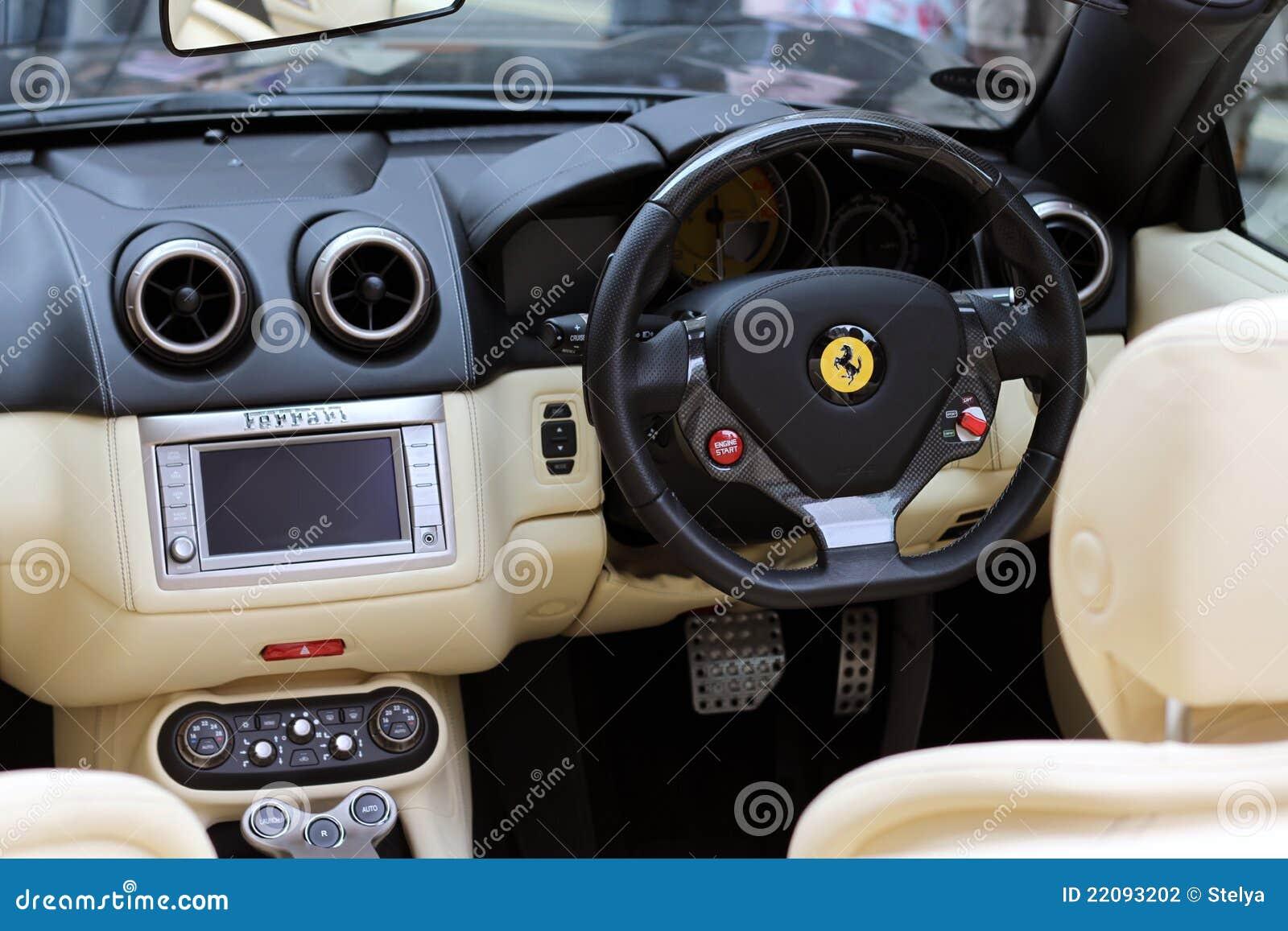 Car interior photos - Car Dashboard Ferrari Interior
