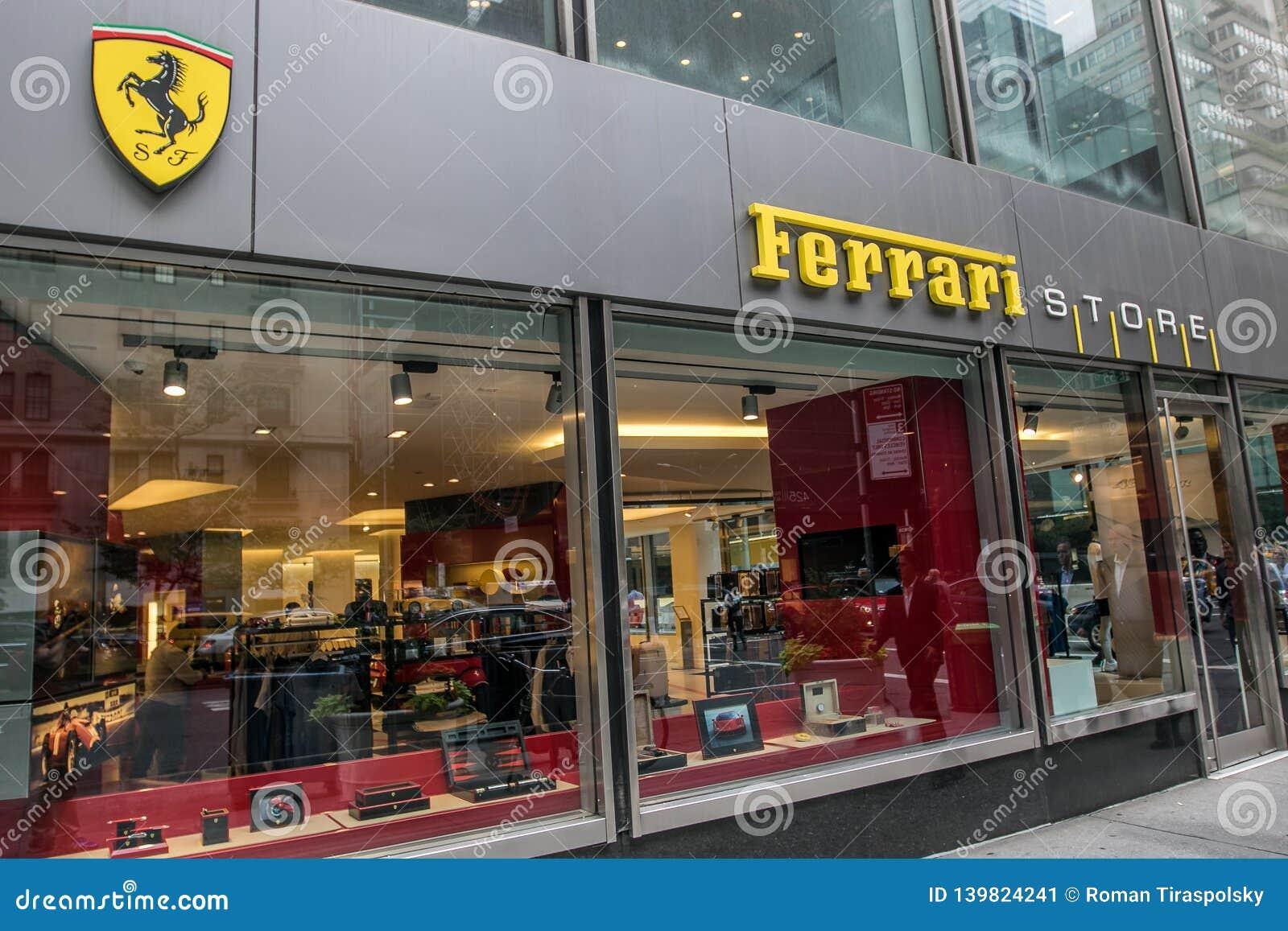 Ferrari Store In Manhattan Editorial Photo Image Of Store 139824241