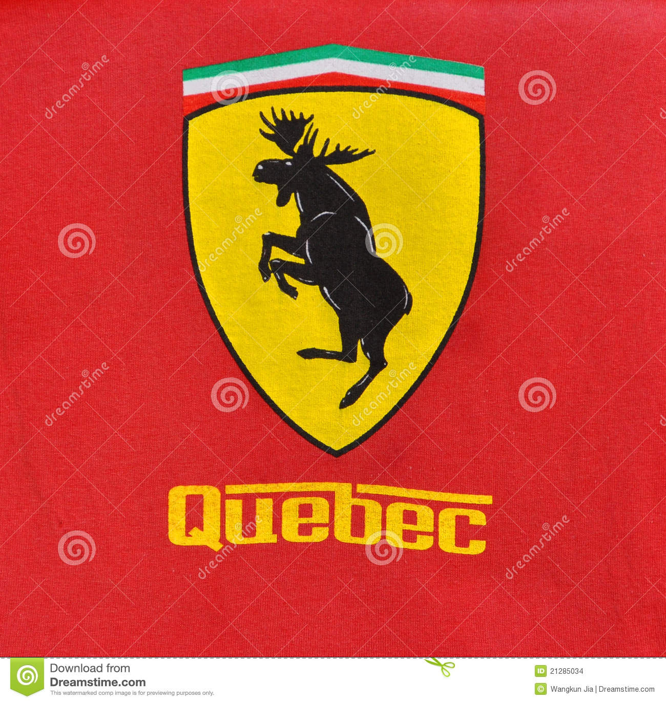 Ferrari logo stock photos download 1217 images ferrari style quebec logo with moose in the center stock images buycottarizona Choice Image