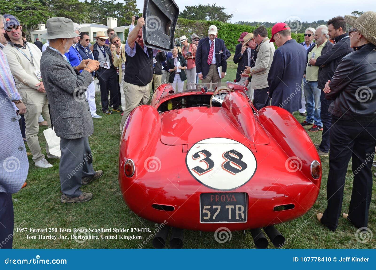 1957 Ferrari 250 Testa Rossa Scaglietti Spider 0704tr