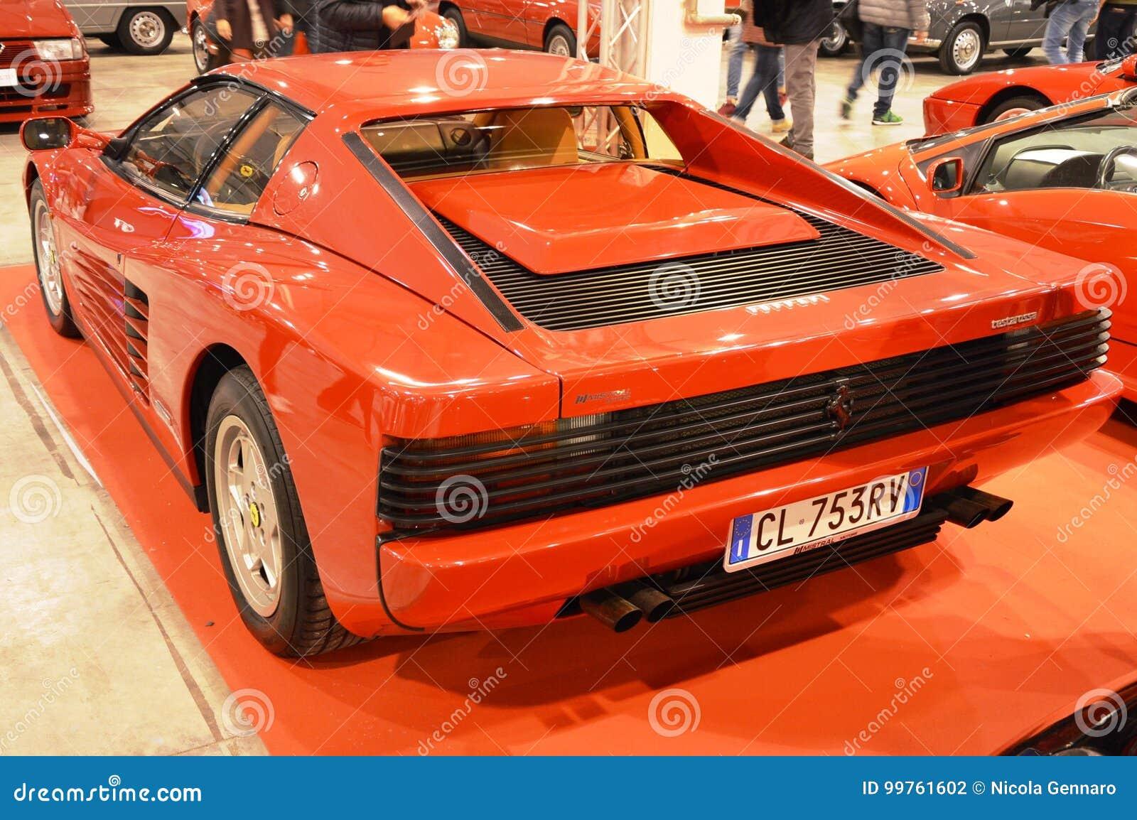 Ferrari Testarossa At Vintage Car Exposition In Padova 2015 Editorial Photography Image Of Vintage Ferrari 99761602