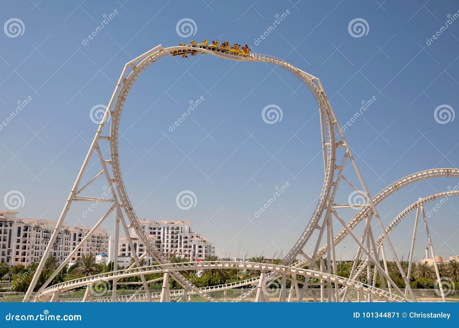 Ferrari World Roller Coaster Editorial Photo Image Of Entertainment Coaster 101344871