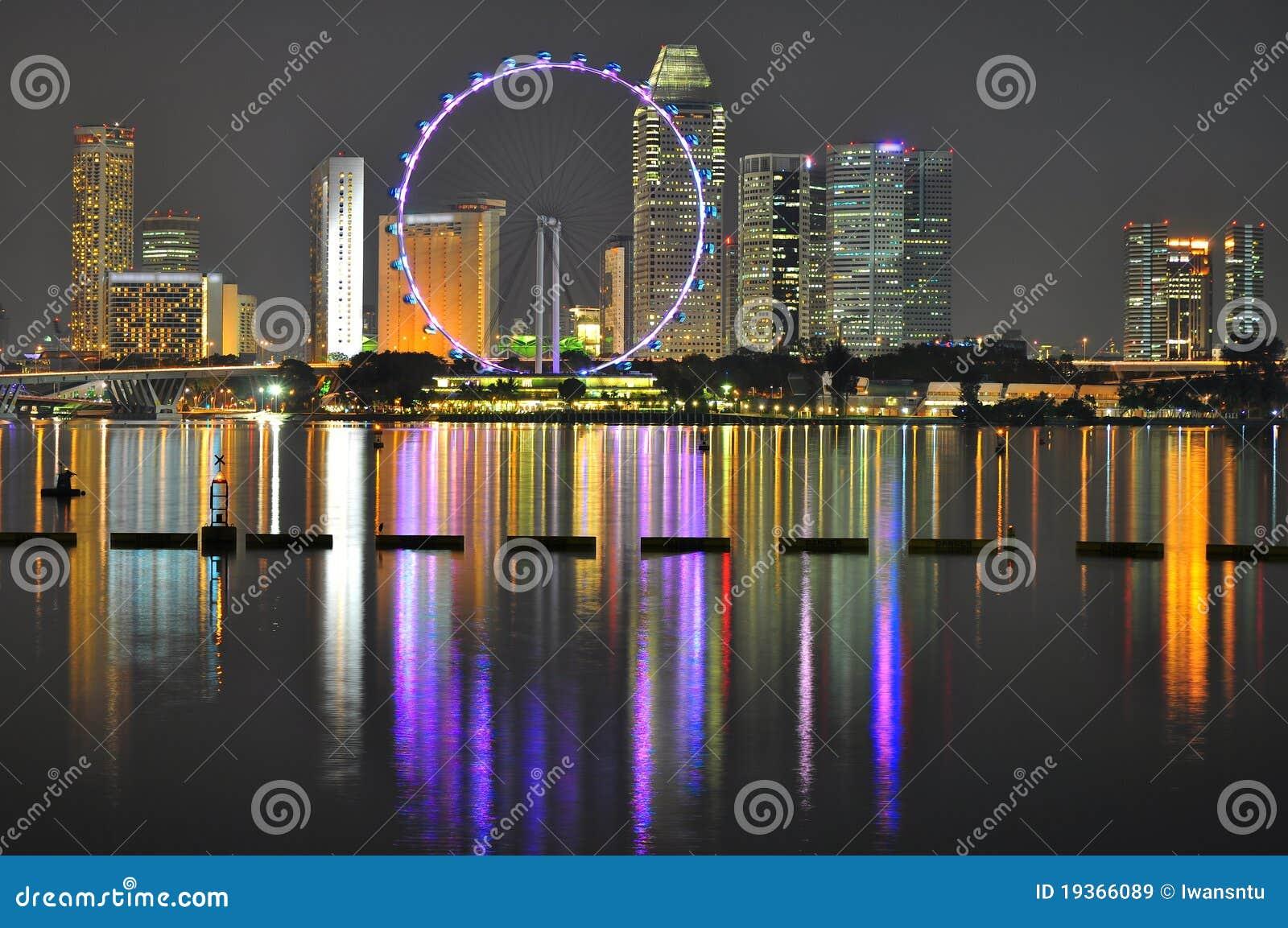Ferris roda dentro a cidade