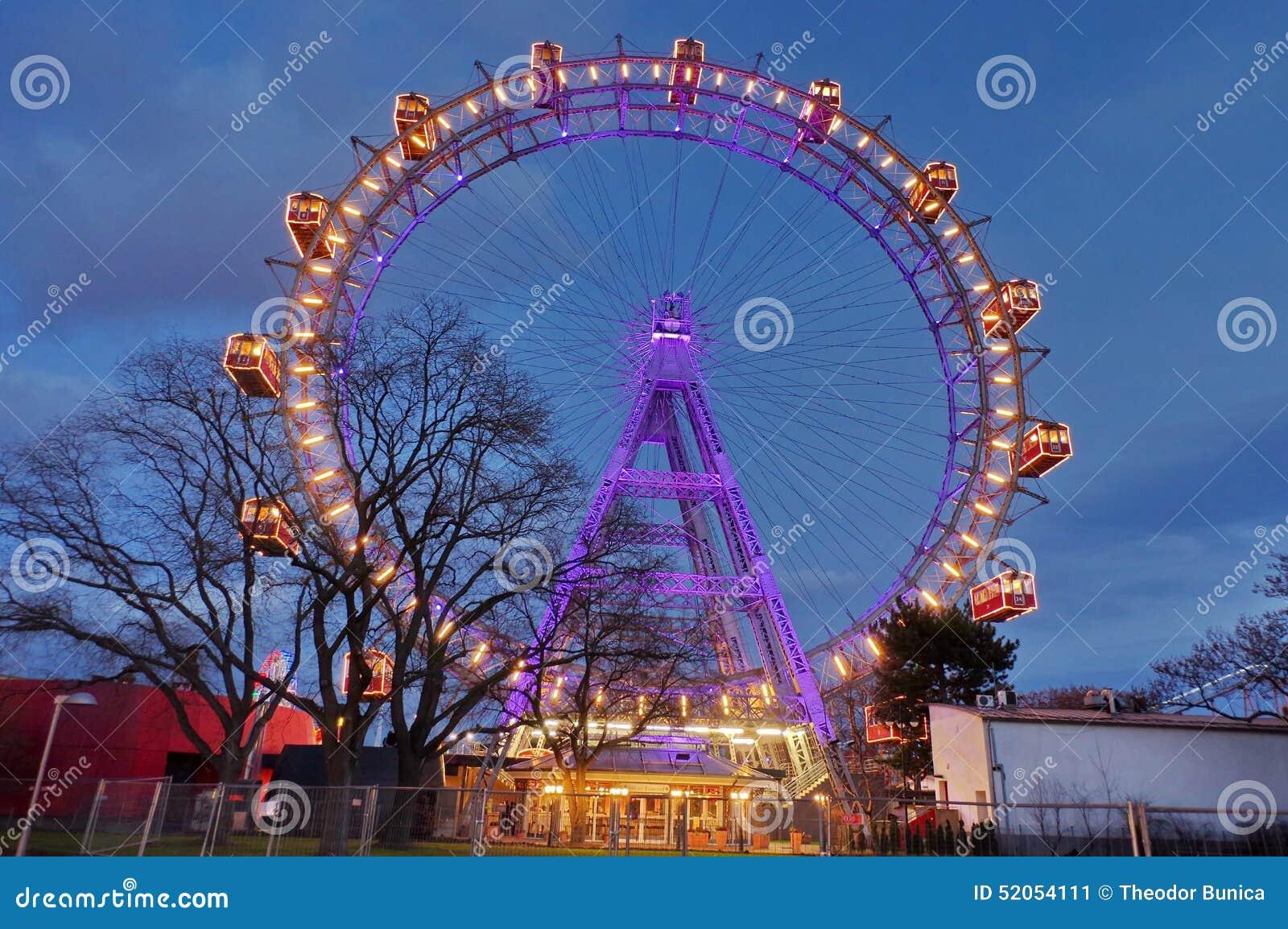 Ferris roda dentro Prater