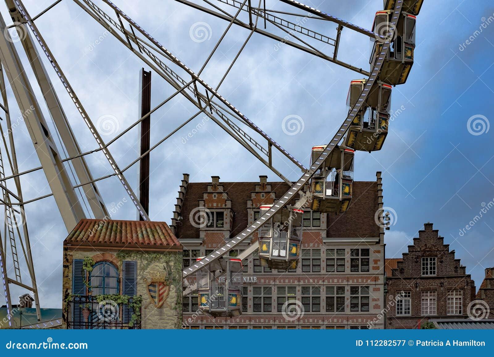 Hamilton Christmas Market.Ferris Wheel At Ghent Christmas Market Editorial Photography