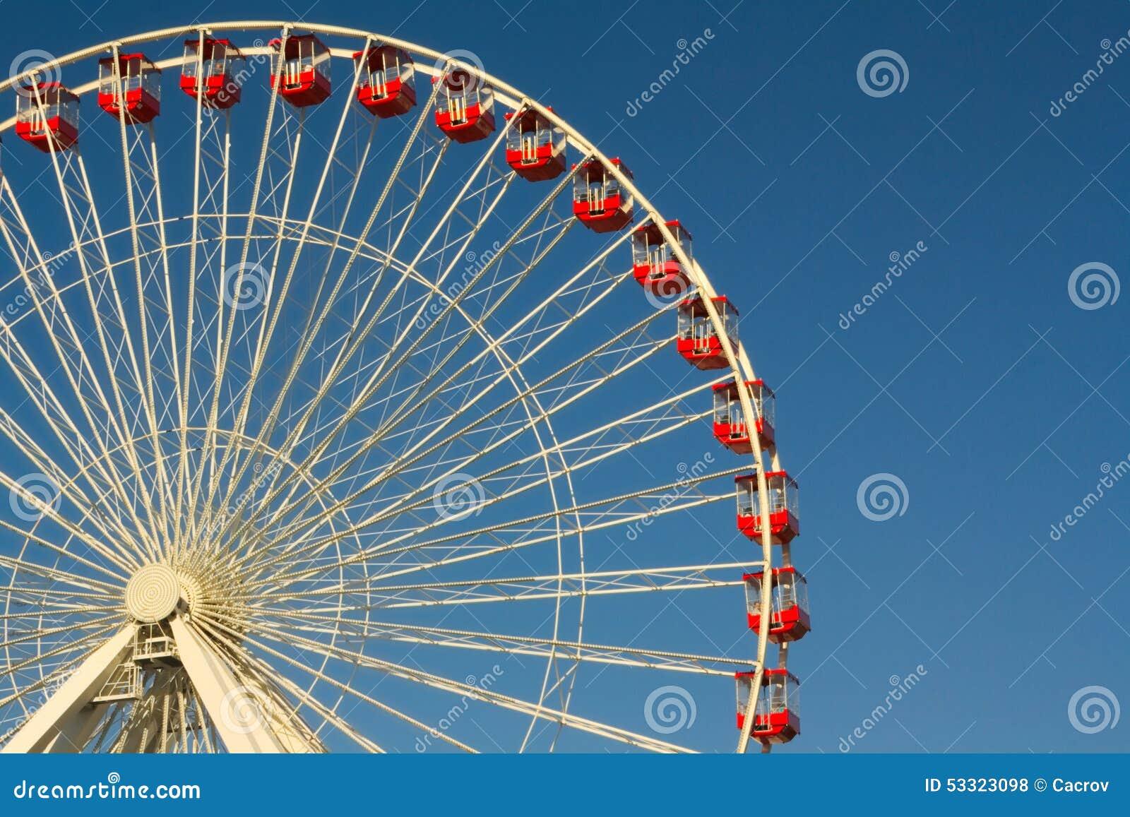 Download Ferris Wheel stock photo. Image of harbor, pier, lake - 53323098