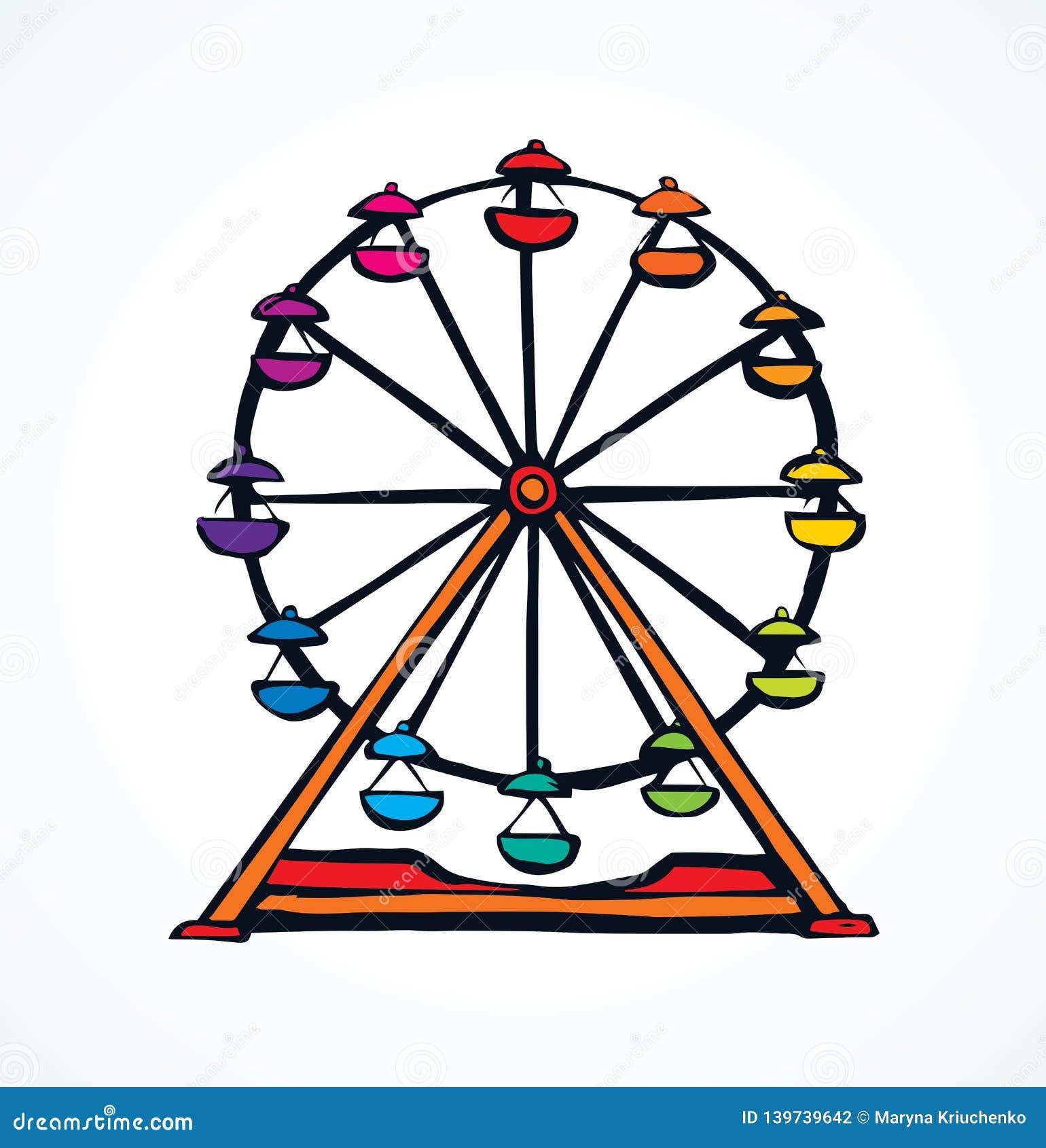 Ferris Wheel Gráfico del vector