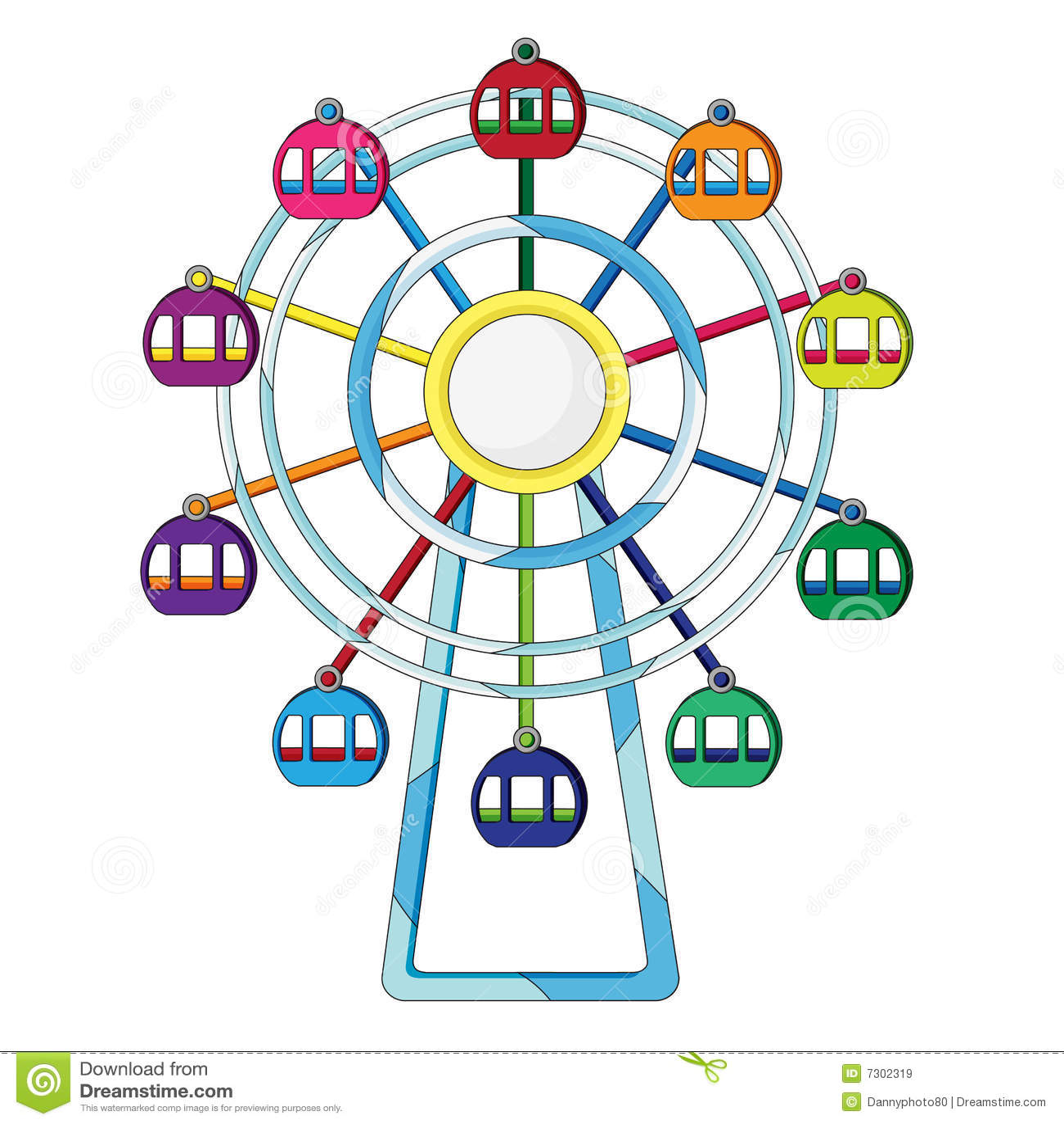 Ferris Wheel Illustration Royalty Free Stock Images - Image: 7302319