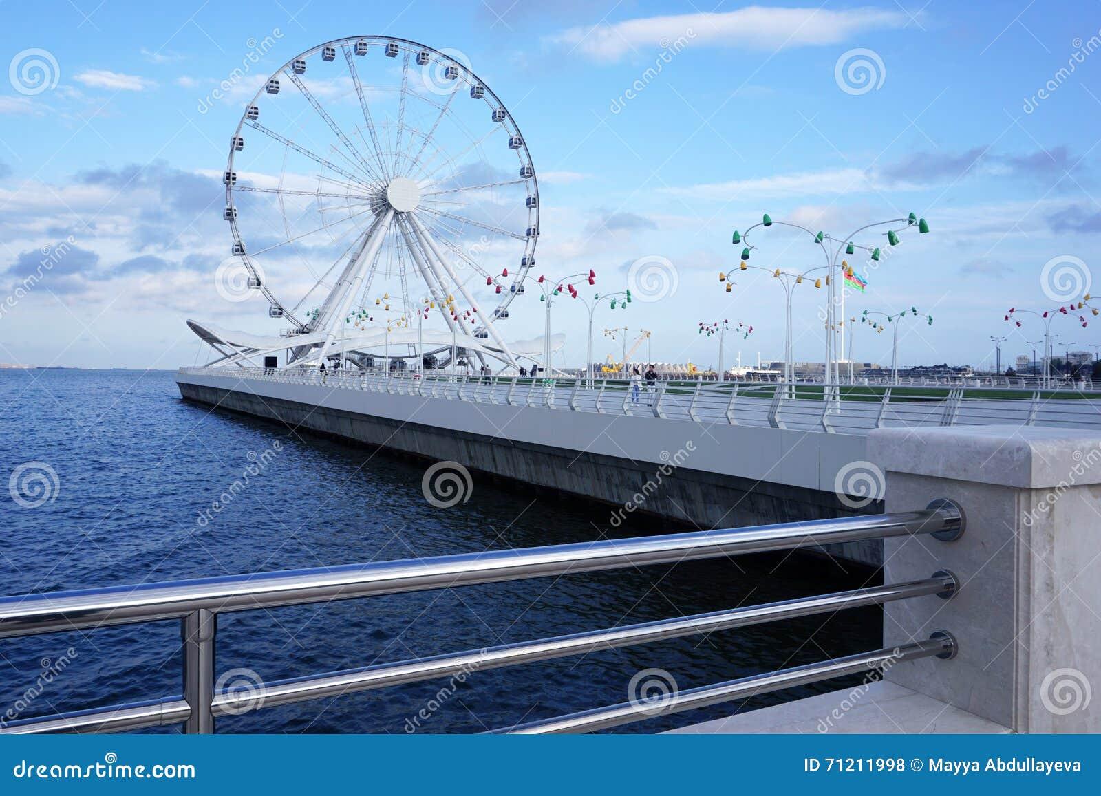 Ferris wheel near the Caspian sea
