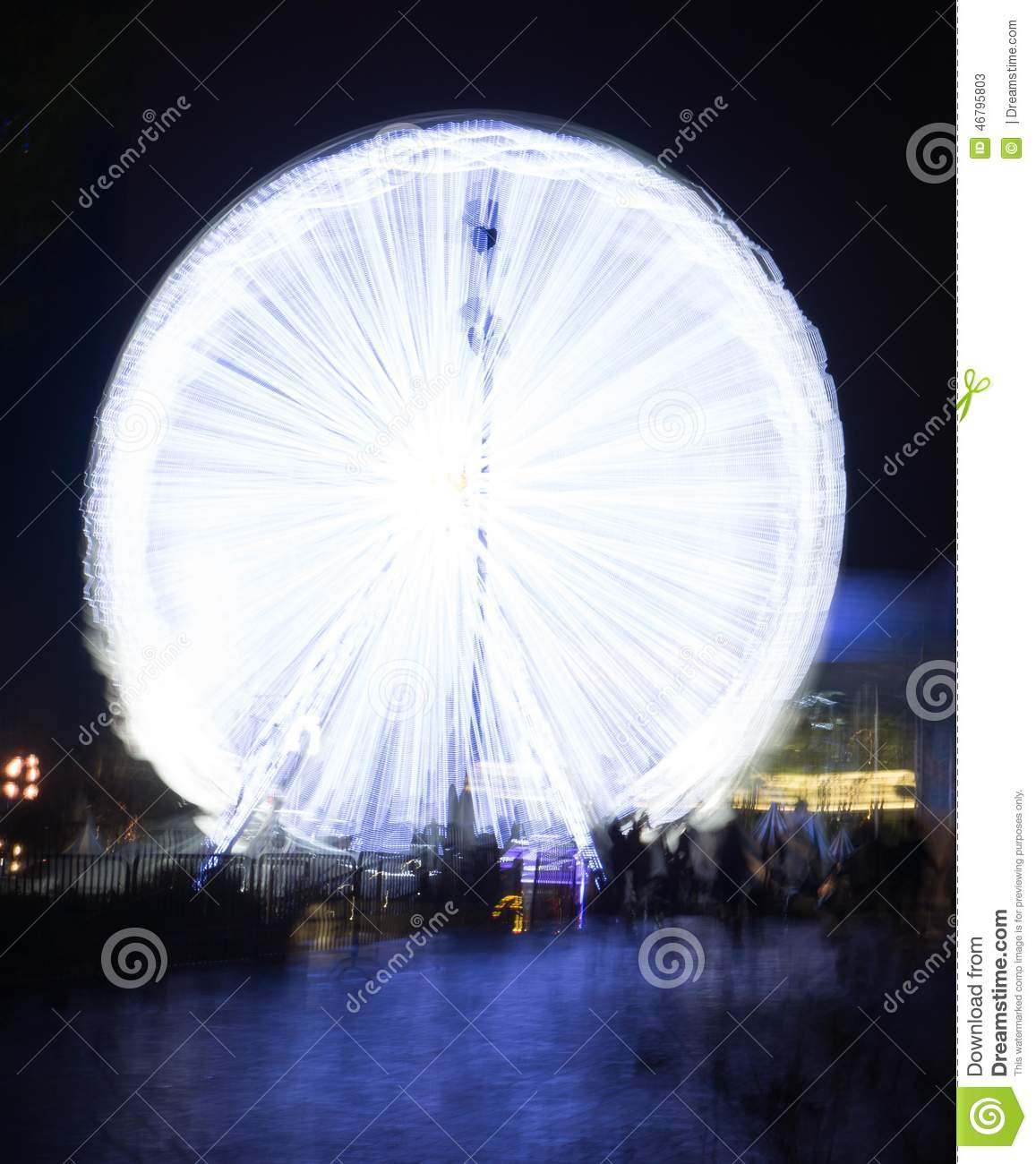 Ferris Wheel At Night Editorial Stock Photo. Image Of