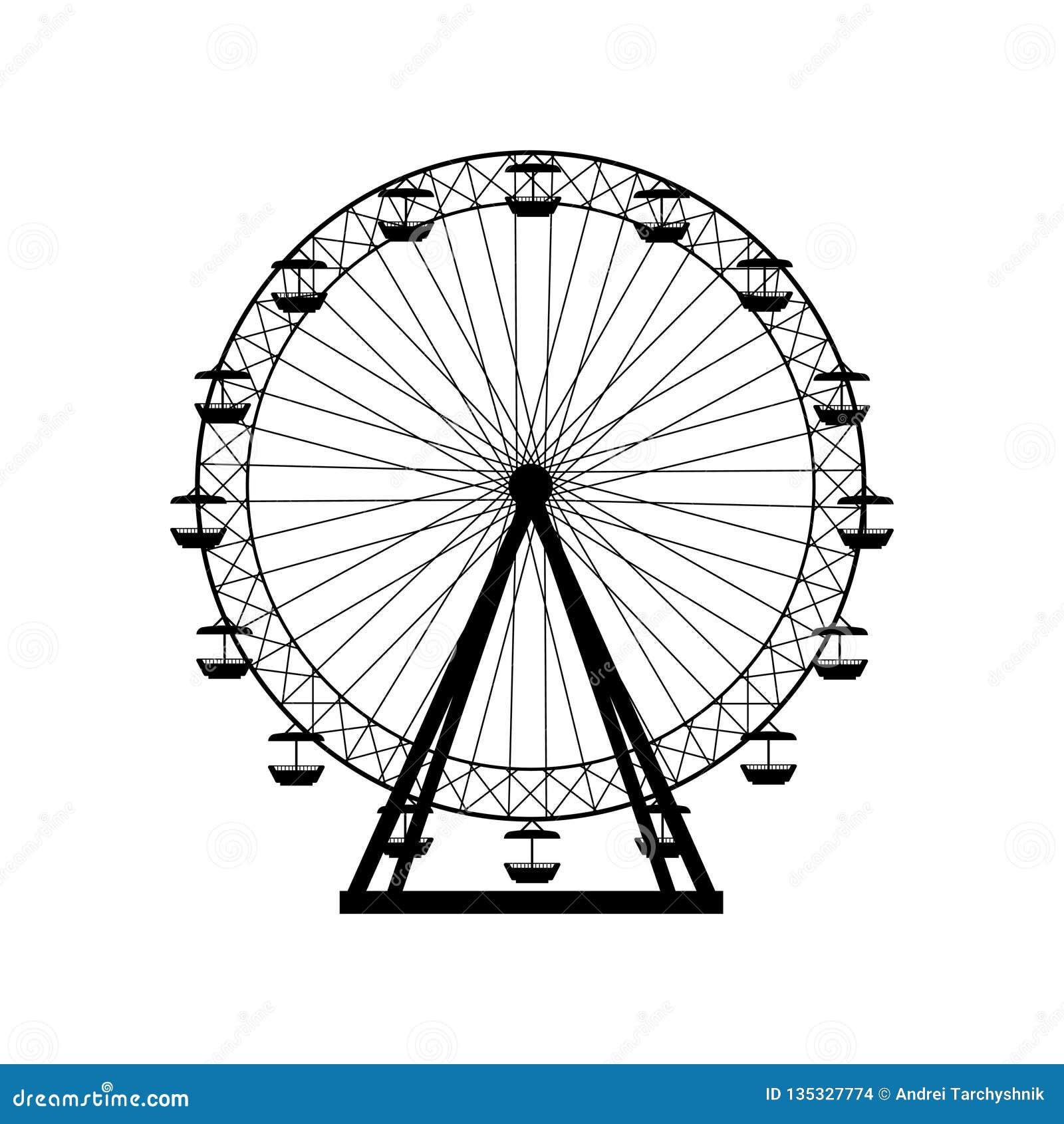 Ferris Wheel Silhouette Stock Illustrations 1 750 Ferris Wheel Silhouette Stock Illustrations Vectors Clipart Dreamstime