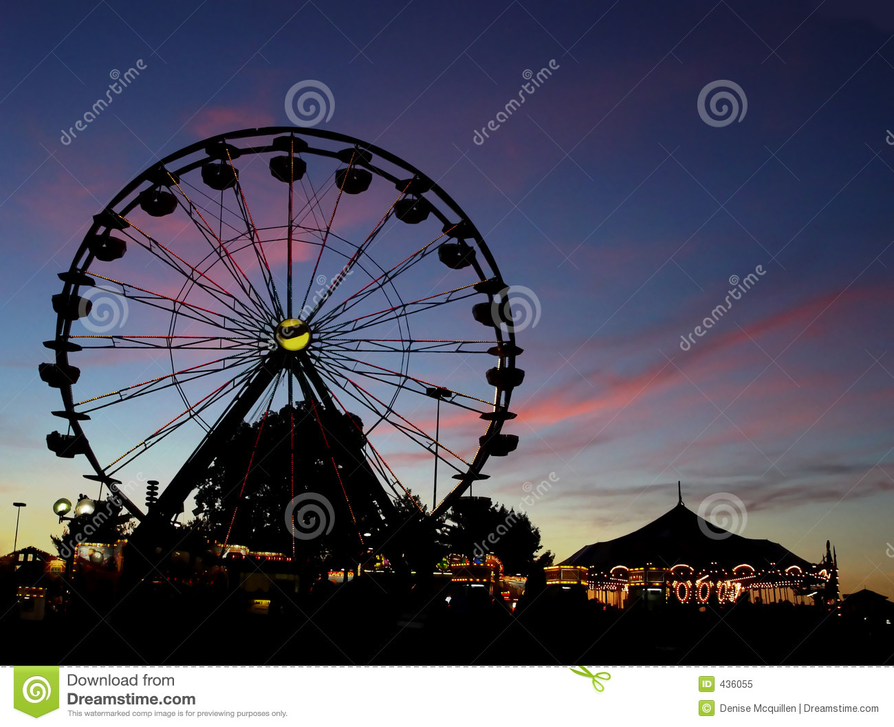 Ferris Wheel Silhouette Clip Art Images & Pictures - Becuo