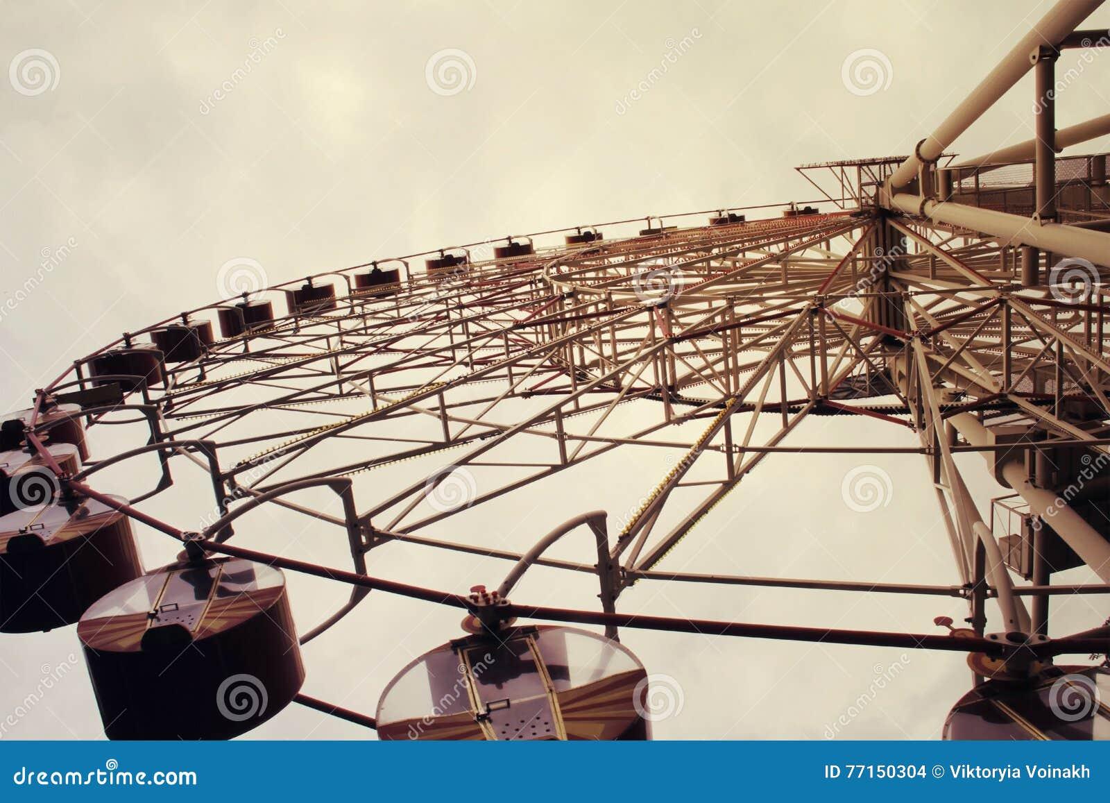 Ferris wheel toned in vintage style