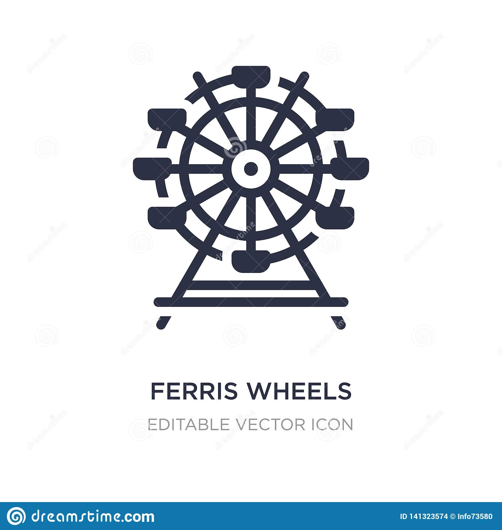 ferris wheels icon on white background. Simple element illustration from Business concept