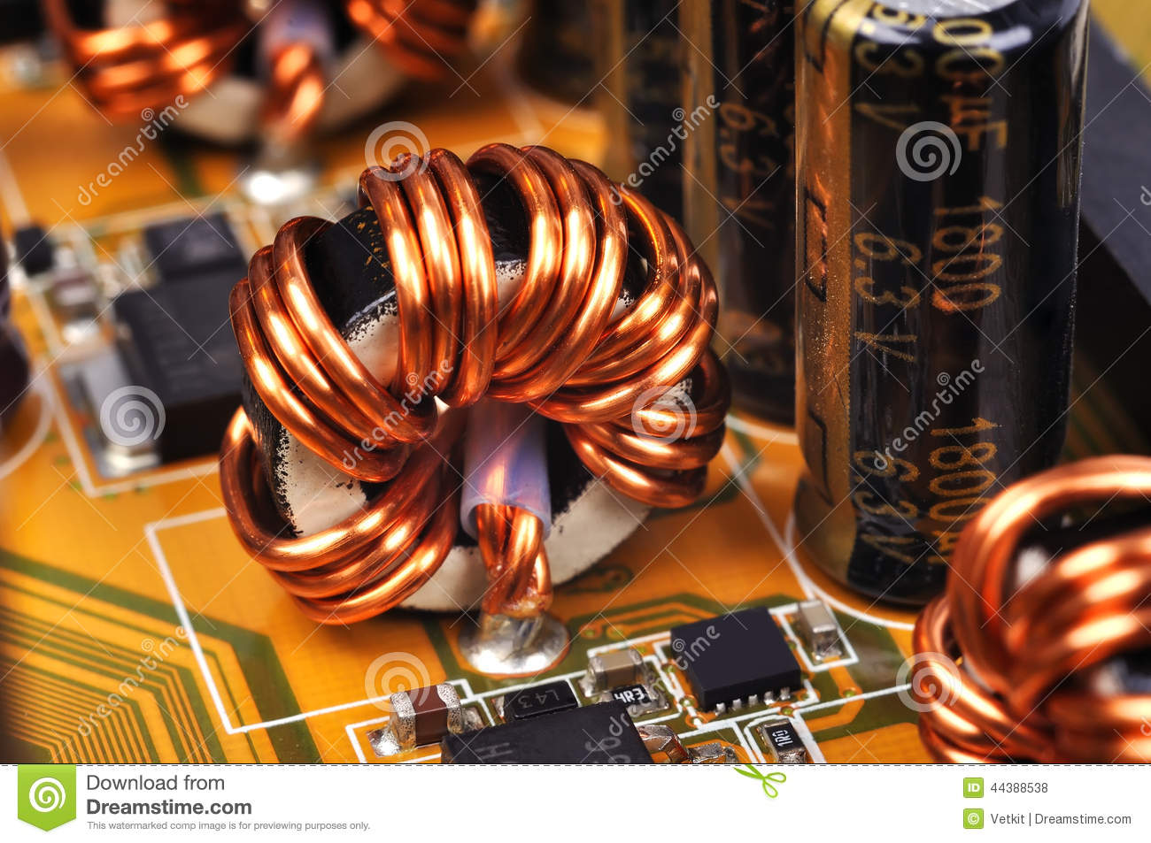 Ferrite Ring Stock Photo Image Of Detail Condenser 44388538 Ringcircuit Download Comp