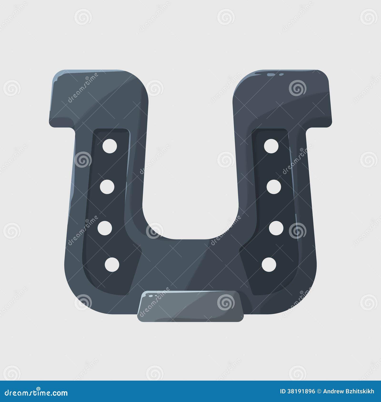 Ferro di cavallo brillante stilizzato di gray d 39 acciaio su for Cavallo stilizzato
