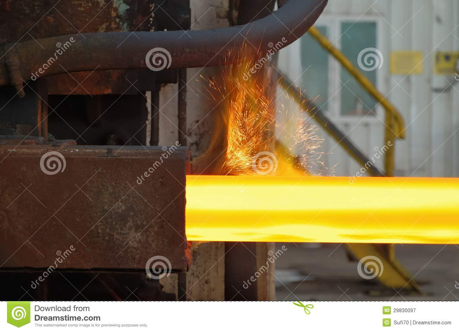 Ferro e linha de produção de aço