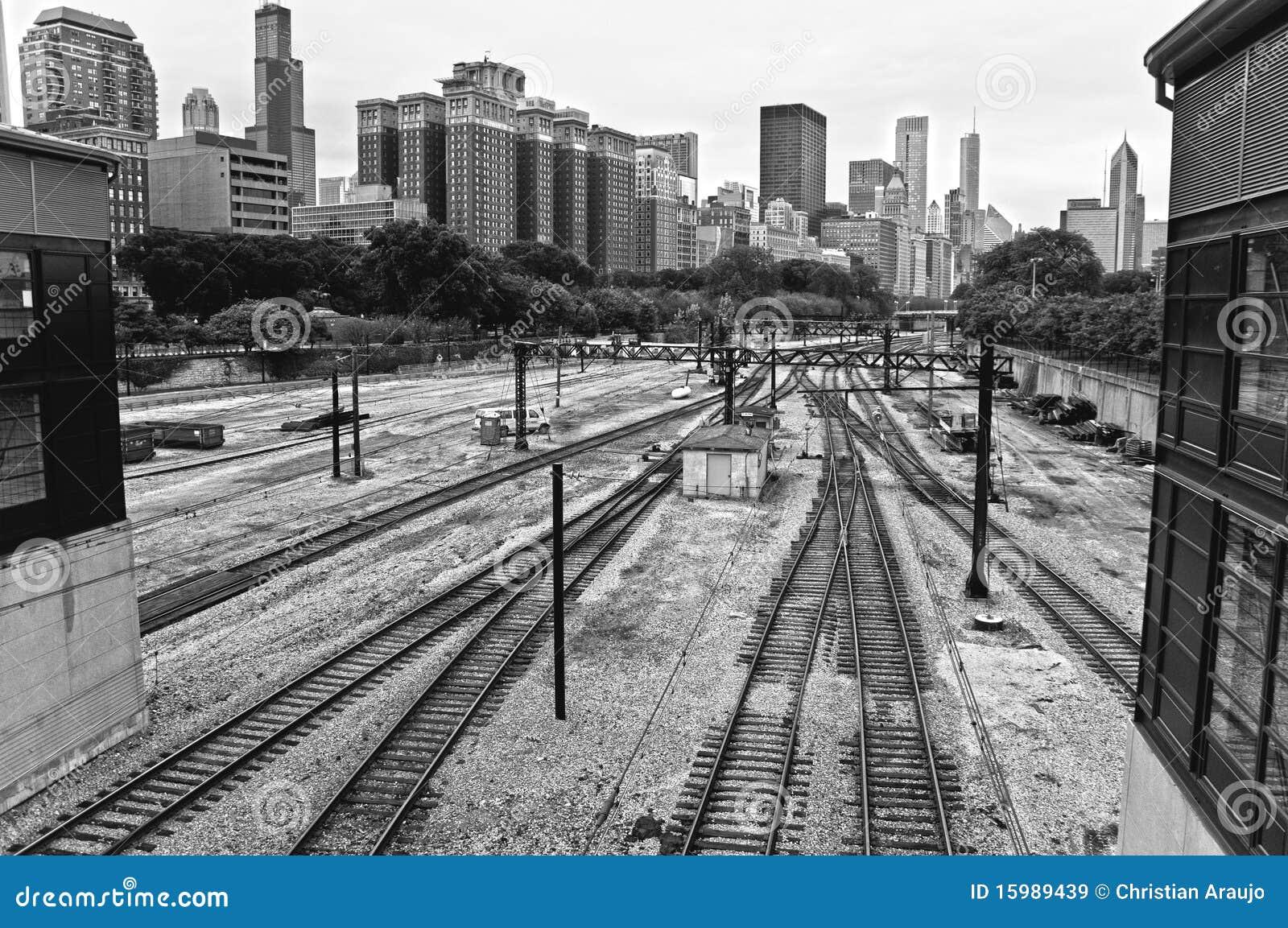 Ferrocarril de Chicago imagen de archivo. Imagen de ensambladura ...
