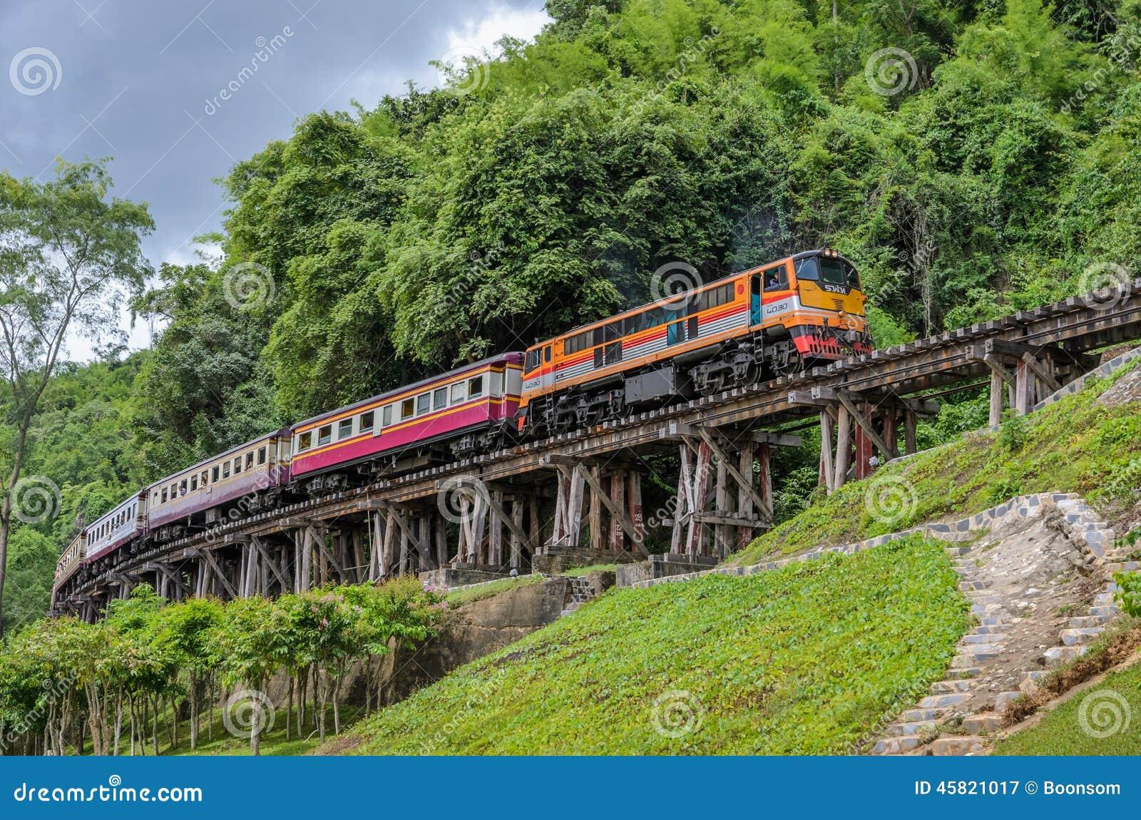 Ferrocarril de la muerte en Kanchanaburi Tailandia