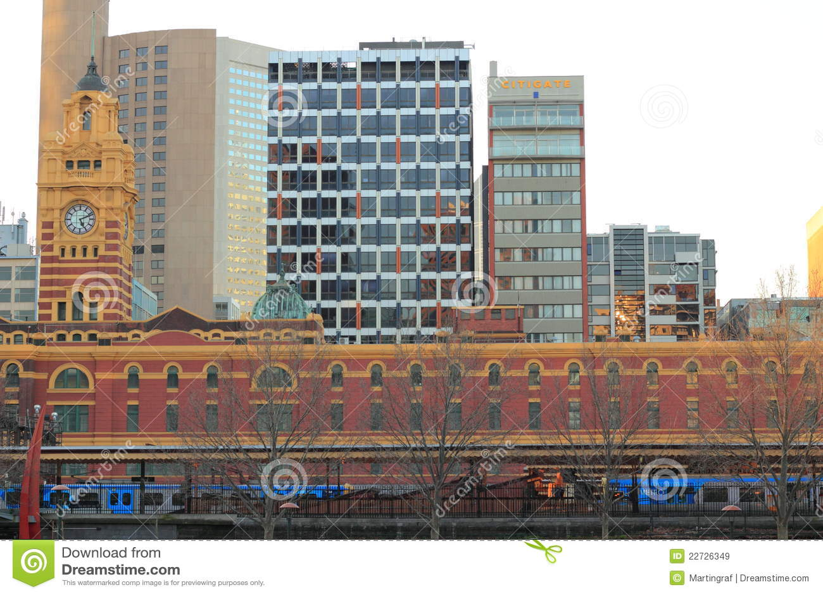 Ferrocarril del St de Flinder de Melbourne