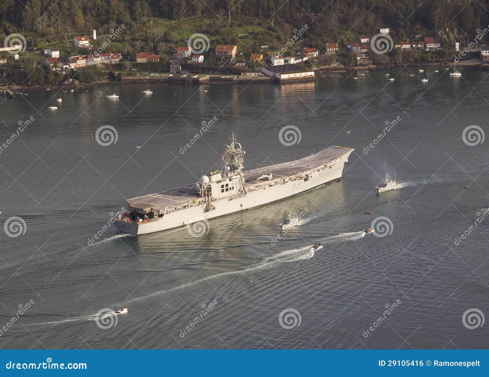 FERROL, SPAIN-FEBRUARY 08: Aircraft Carrier Principe De ...Spanish Aircraft Carrier Principe De Asturias